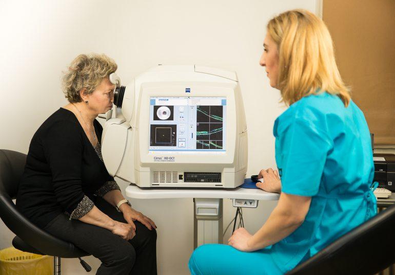 OCT retinian tomografie oculara